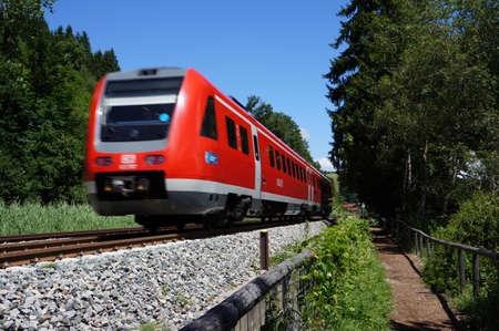 A local train in Germany (German: Regionalbahn)