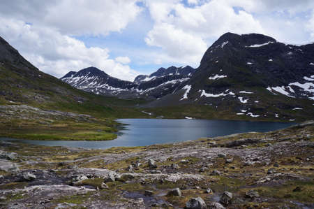 Rauma Municipality, M�re og Romsdal county, Norway. Valley that leads to the famous Trollstigen mountain pass.