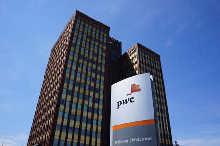 prestigious: The Price Waterhouse Coopers PwC office building in Rotterdam, The Netherlands Editorial