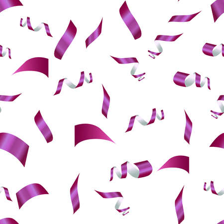 purple confetti on a white background. seamless pattern 向量圖像