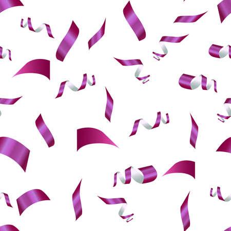 purple confetti on a white background. seamless pattern 向量圖像