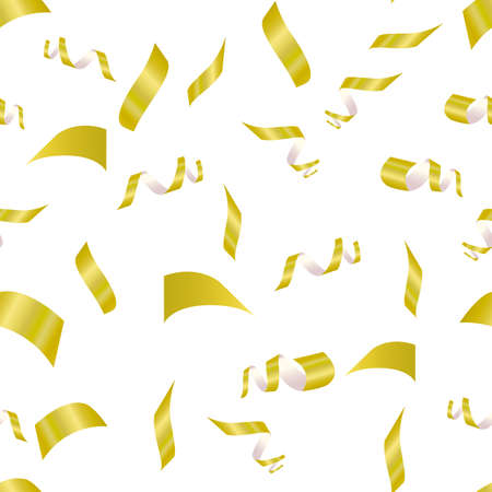 yellow confetti on a white background. seamless pattern