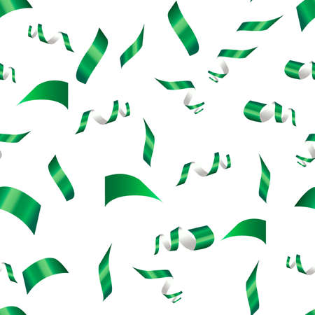 green confetti on a white background. seamless pattern
