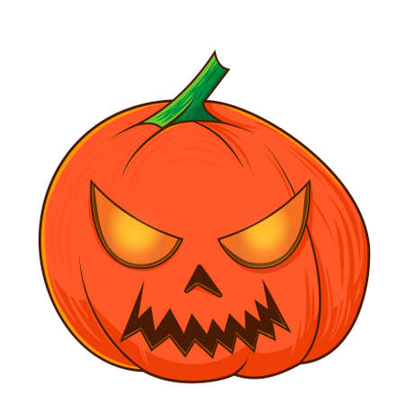 halloween pumpkins, funny faces. Autumn holidays. Vector illustration EPS10.