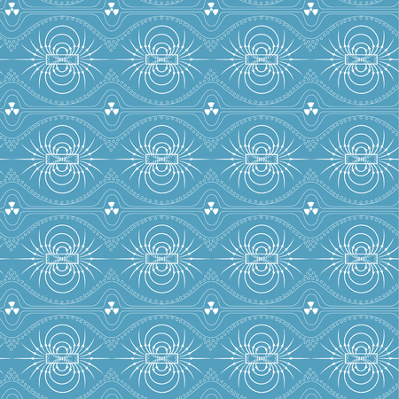 Seamless pattern of magnetic field, sign of radiation