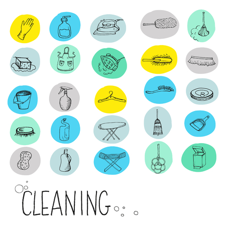 carpet cleaning service: Icons for cleaning services, maintenance.