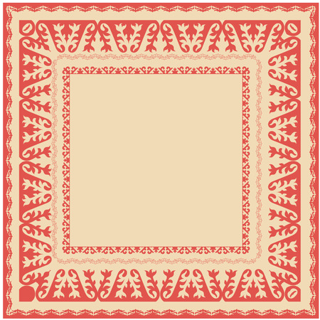real people: Asian ornaments collection. Frame, workpiece for your design. Historically ornamental of nomadic people. It based on real Kazakh art.