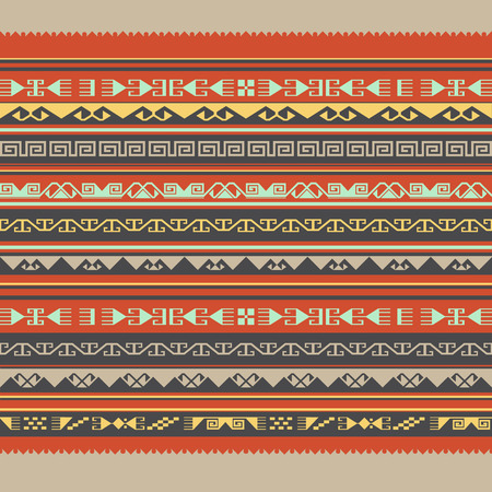 nomadic: Asian ornaments. Seamless frame. Historically ornamental of nomadic east people. It based on real Kazakh art. Illustration