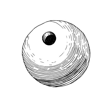 high damage: Vintage projectile for bomb cannon. Object for ranged weapon. Ranged weapon. Illustration