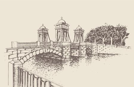 Lomonosov-Brücke, St. Petersburg, Russland