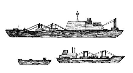 Set of ship