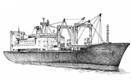 refrigerated: Cargo ship, reefer Baltic Forward