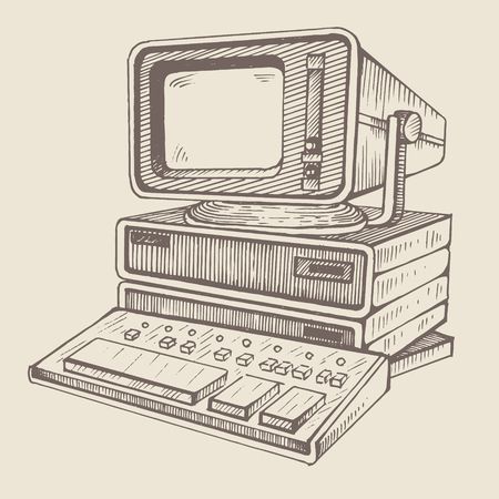 old computer, one of the very first Ilustrace
