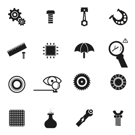 Set of icon of spare parts.