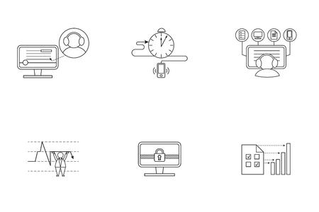 Set of pictogram in box.