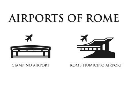 Rome Airport symbols