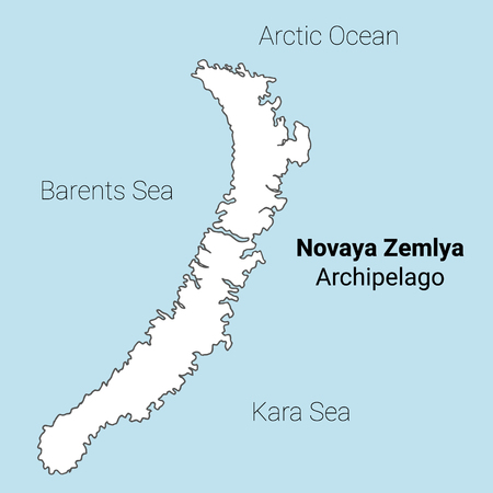 Novaya Zemlya vector map