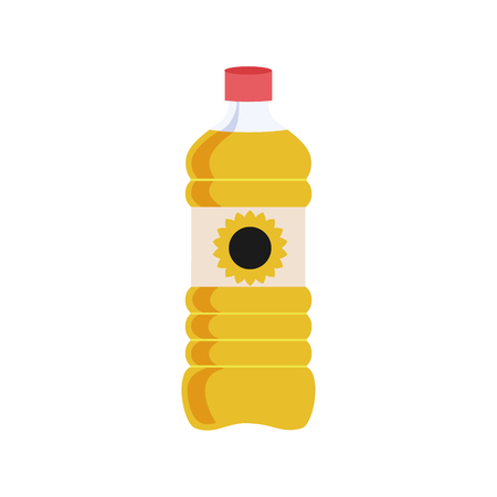 Can of vegetable oil for cooking meal. Isolated illustration
