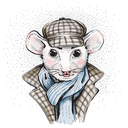 Great Mouse Detective. Cartoon. Watercolor style