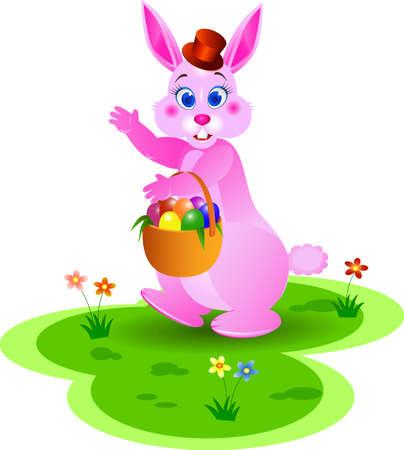 Ester bunny Stock Vector - 4598477