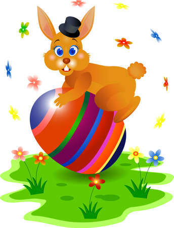 Ester bunny Stock Vector - 4598478