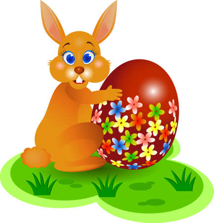 Ester bunny Stock Vector - 4598475
