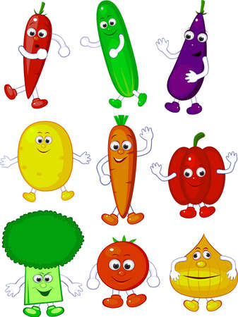 cucumber: Funny vegetables character Illustration