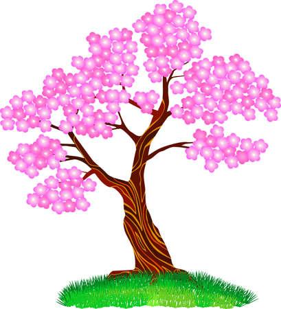 flora vector: tre blossom