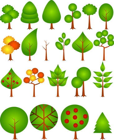 Tree collection Stock Vector - 4815213