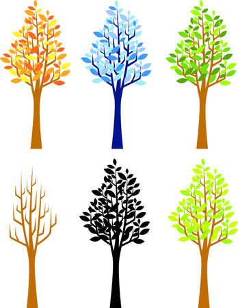 rt: Fous season tree Illustration