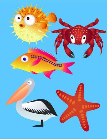 shoreline: Sea Life Illustration