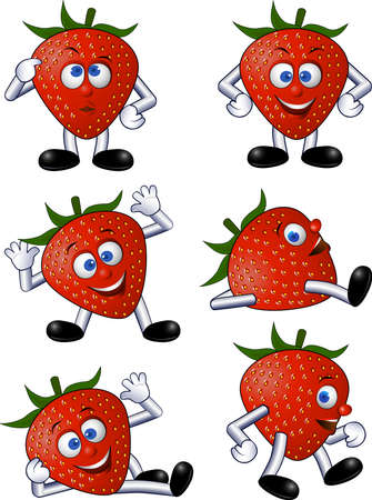 strawberry character Stock Vector - 4938816
