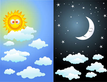 moon night: Day and night