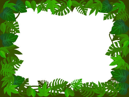 Forest frame Vector