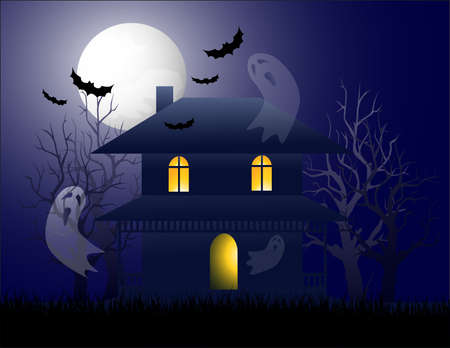 Ghost house Stock Vector - 5533270