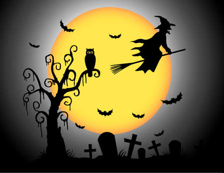 h�sslich: Halloween-Mond Illustration