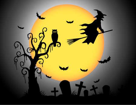 mujer fea: Luna de Halloween