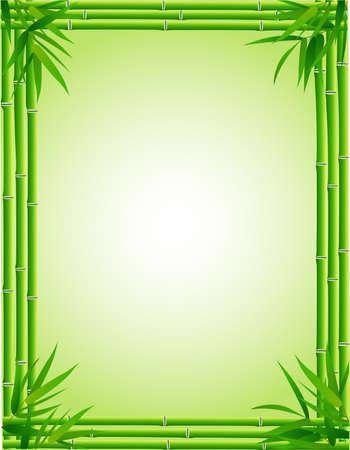 Cornice di bambù  Vettoriali