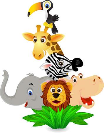 jungla caricatura: Animales