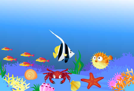 Sea life illustration Vector