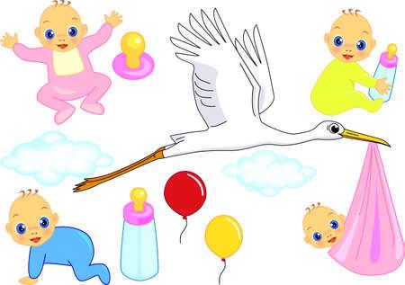 Baby born Illustration
