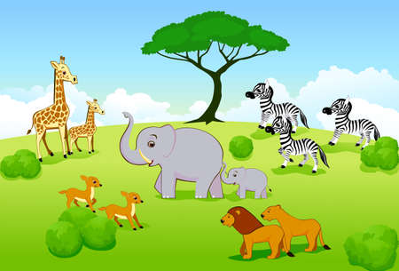 Safari animal Stock Vector - 6100009
