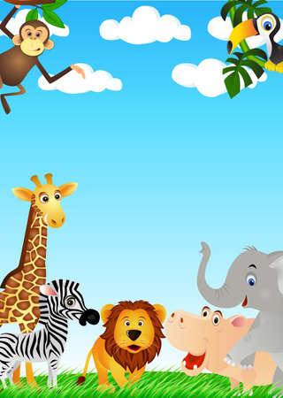 hippopotamus: Cartton animal en la naturaleza
