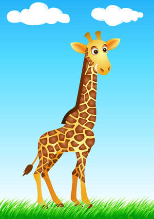 Giraffe in the wild Stock Vector - 6169825