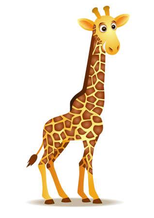 jirafa caricatura: Aislamiento de jirafa