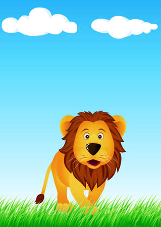 Lion in the wild Vector