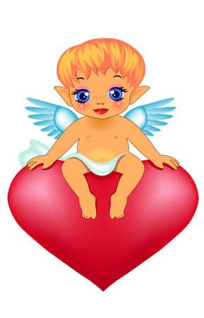 Cute cupid Vector