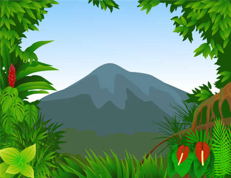 Forest background Stock Vector - 6619702