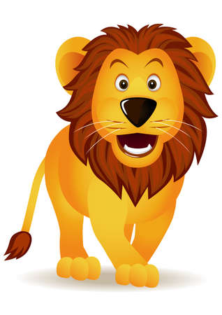 Happy Lion Stock Vector - 6619701