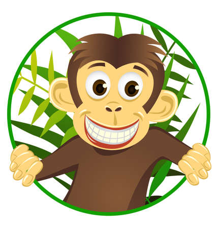 Cute monkey Stock Vector - 6766001